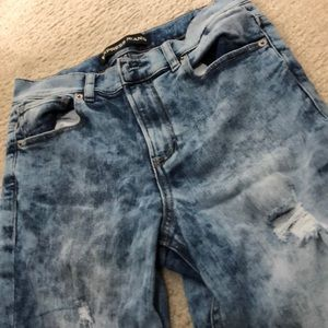 Acid wash jeans from Express